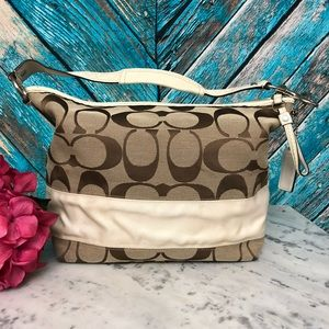 Coach Large Canvas Hobo Shoulder Bag